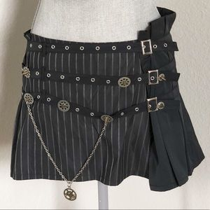 bebe Steampunk Chain Mini Skirt Size Medium